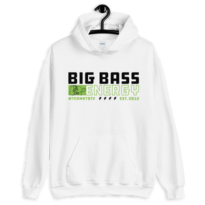 Open image in slideshow, Big Bass Energy Hoodie (White)