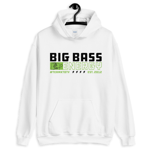 Big Bass Energy Hoodie (White)