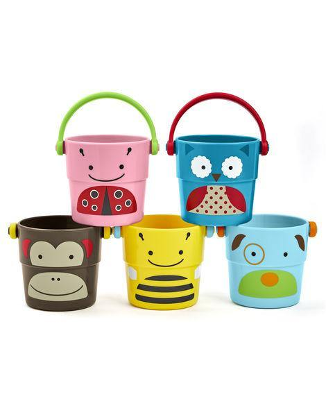 Skip Hop Zoo Bath Stack & Pour Buckets - Kiddie Country