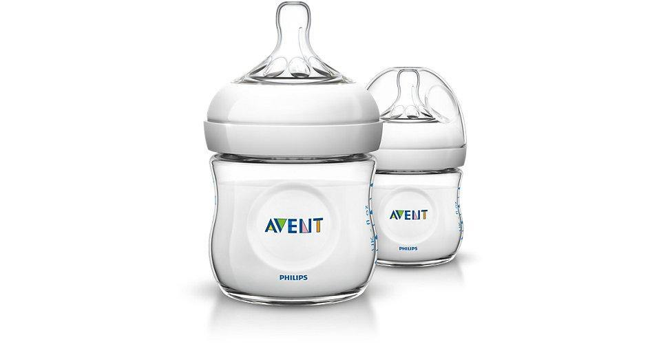 Avent Natural Feeding Bottle 125ml (0m+) 2pk