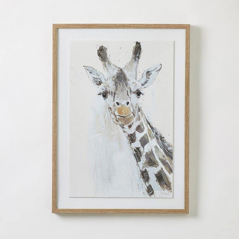 Jeffrey the Giraffe Framed Wall Art - Kiddie Country
