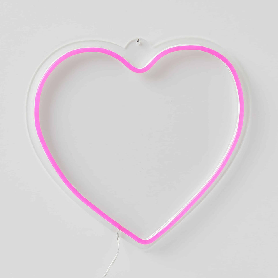 Heart LED Neon Hanging Light - Kiddie Country
