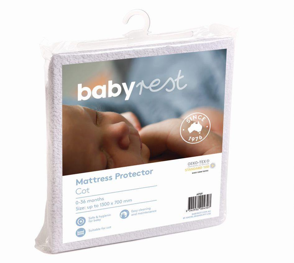 Babyrest Waterproof Mattress Protector - Standard Cot Size
