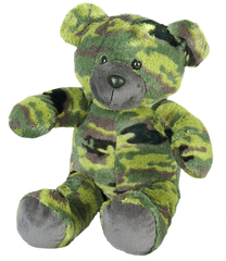 Camo heartbeat bear