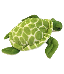 green turtle plush bear