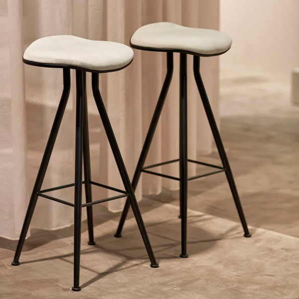 Barfly | Bar Stool Upholstered (with Brass Legs)