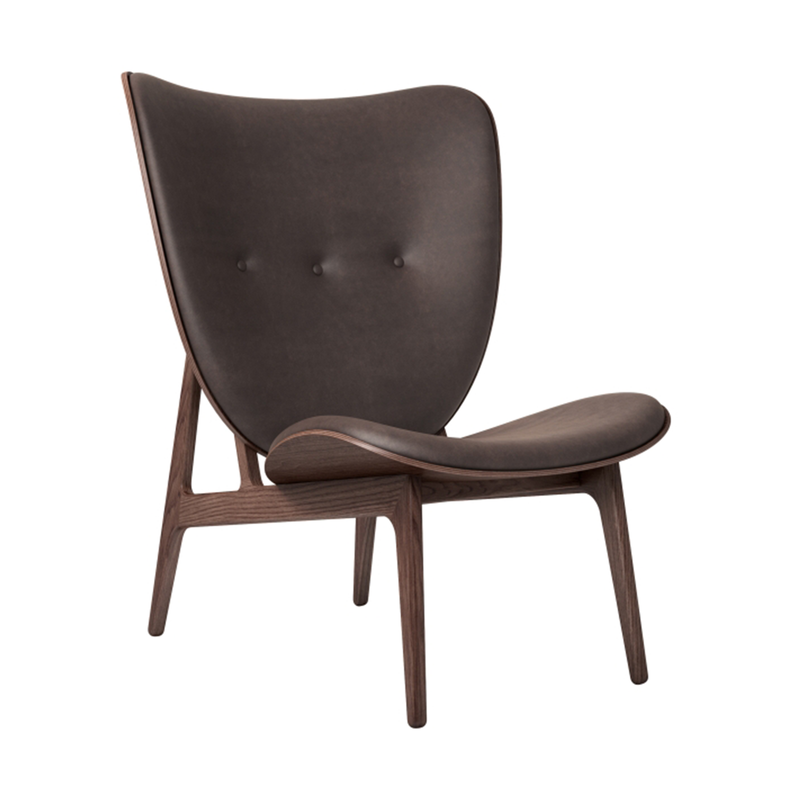 Elephant | Vintage Leather Chair (Dark Stained Frame)