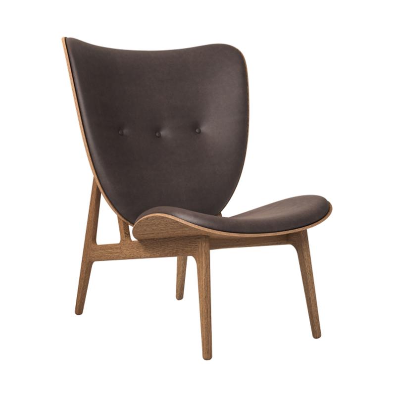Elephant | Vintage Leather Chair (Smoked Oak Frame)