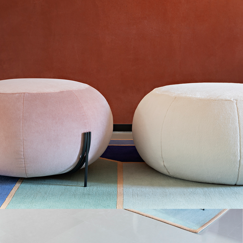 DISPLAY FLAMINGO PINK Geo | Pouf