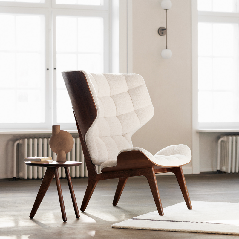 Mammoth | Lounge Chair With Leather Upholstery