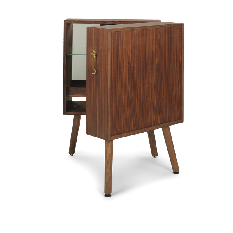 Oliver | Oiled Walnut Drinks Cabinet