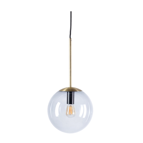 Orb | Matt Antique Brass Pendant