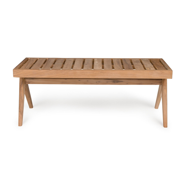 Outdoor Teak Bench | 3 Seater