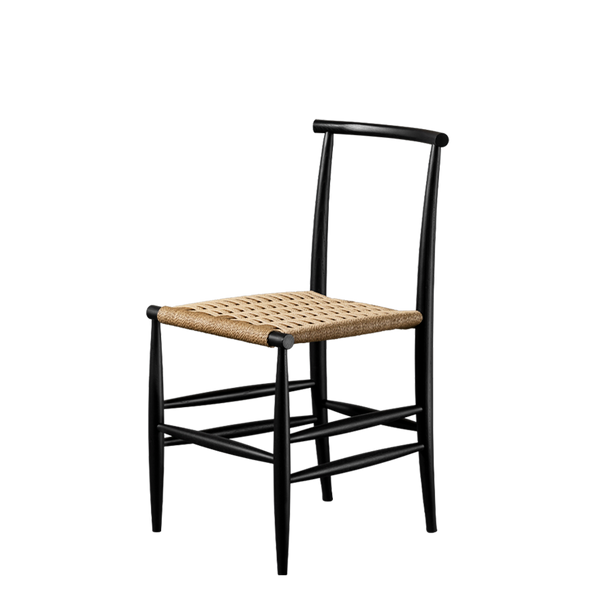 Pelleossa | Dining Chair With Straw Seat