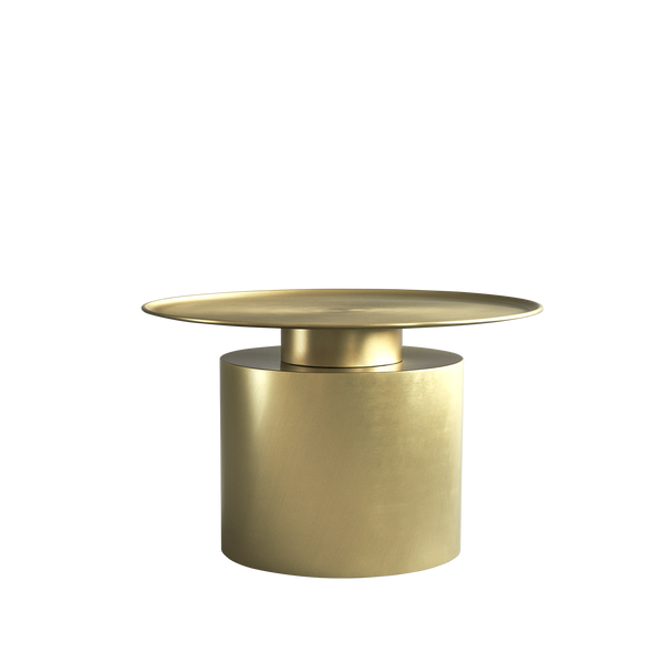 Pillar | Brass Coffee & Side Tables