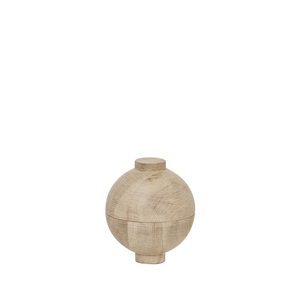 Wooden Sphere | Large Solid Wood Container