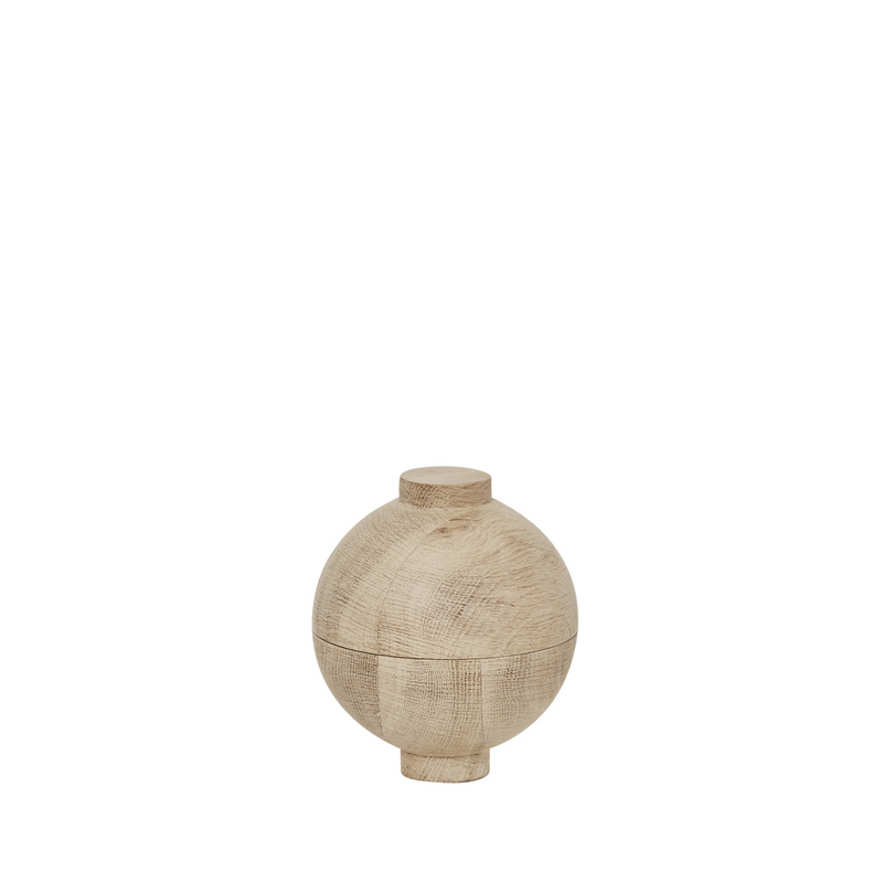 Wooden Sphere | Small Solid Wood Container