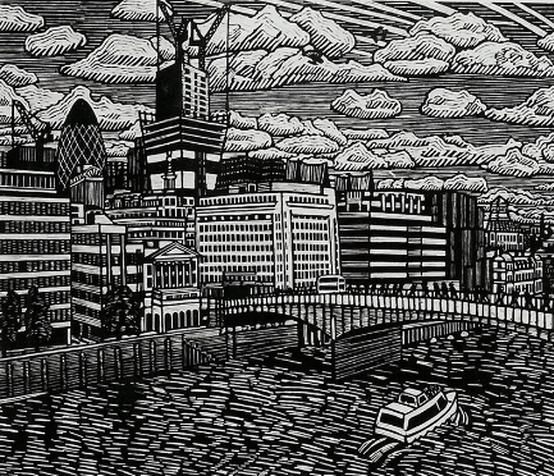 *New Birth In The City - Linocut Print by John Gledhill | Price on request