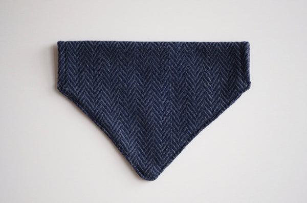 Tweed Bandana Herringbone Navy