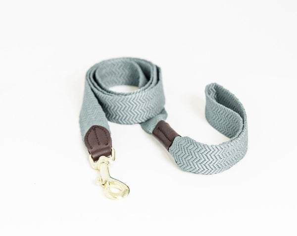Dog Leash Jacquard Light Blue
