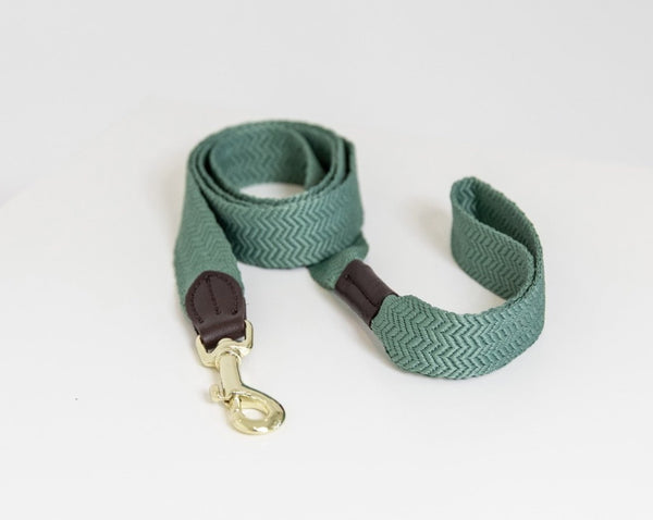 Dog Leash Jacquard Olive Green