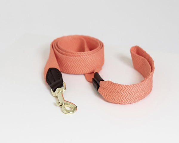 Dog Leash Jacquard Neon Orange