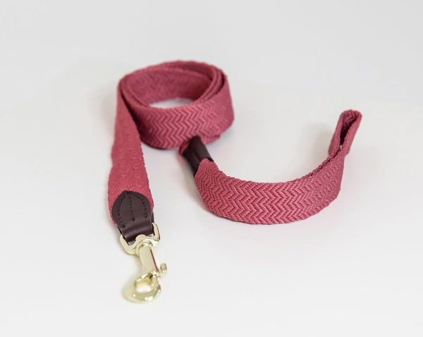 Dog Leash Jacquard Pink