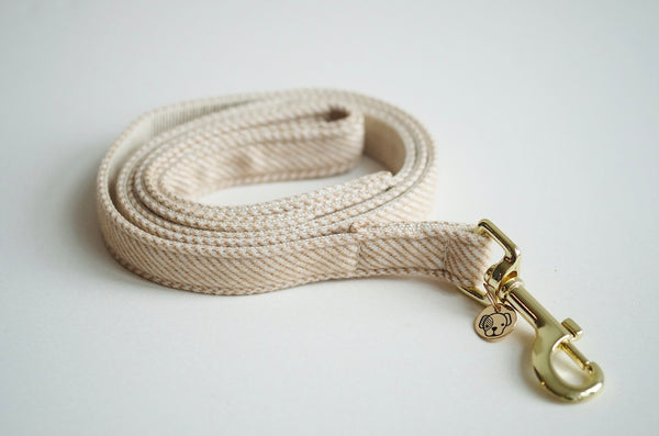 Dog Leash Wool Beige