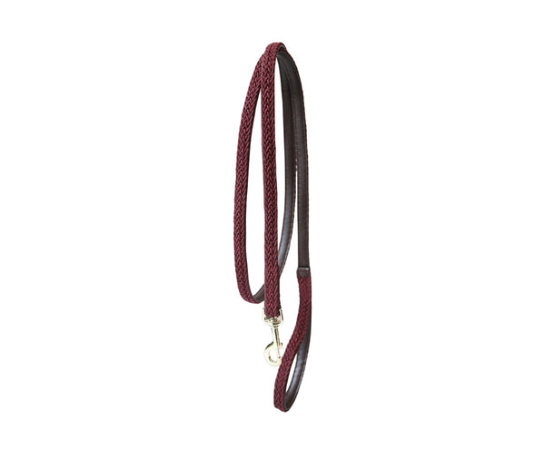 Plaited Nylon Dog Leash Bordeaux