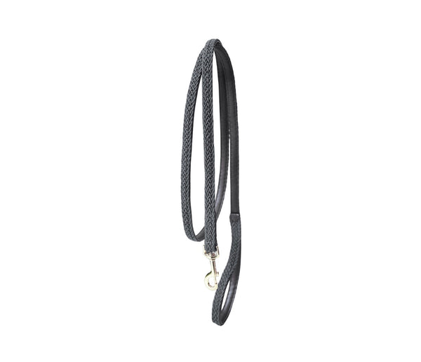 Plaited Nylon Dog Leash Grey