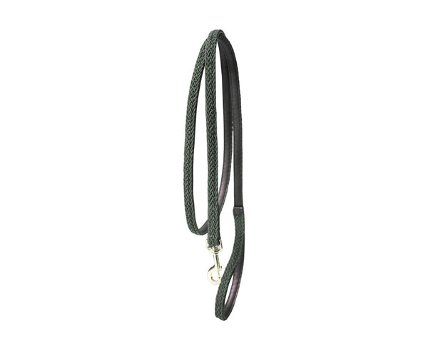 Plaited Nylon Dog Leash Olive Green