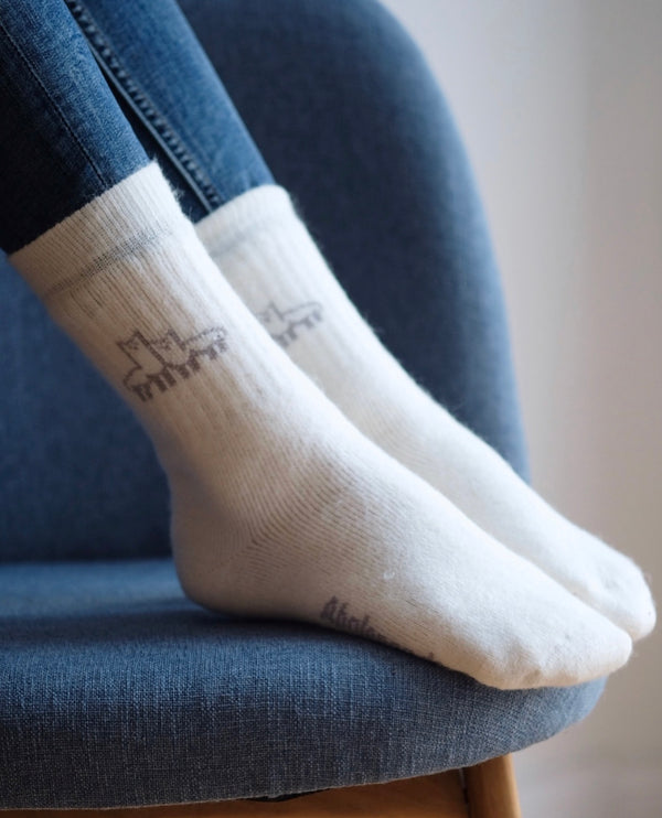 Alpaca Socks White