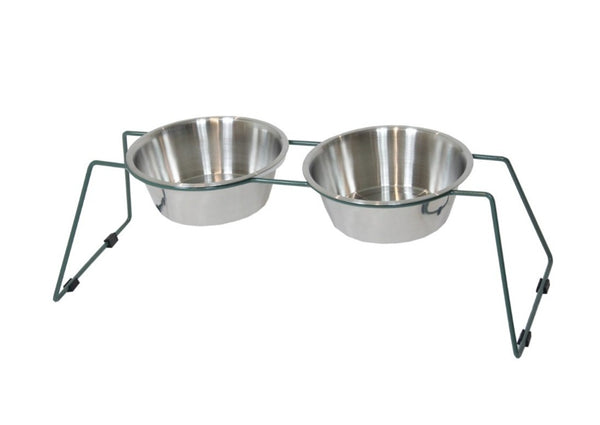 Dog Bowl Comfort Feeder Dusty Green