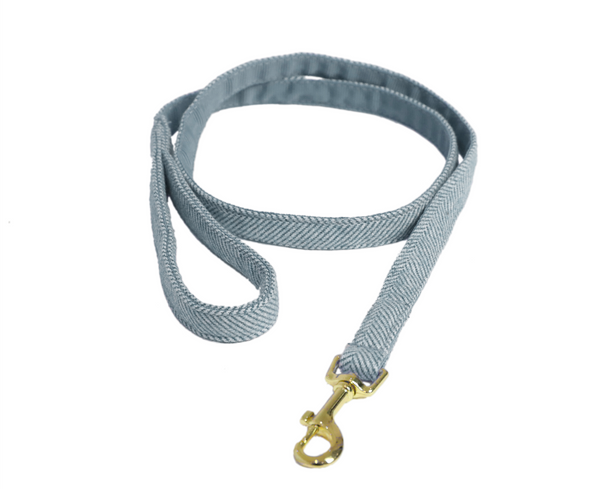 Dog Leash Wool Light Blue