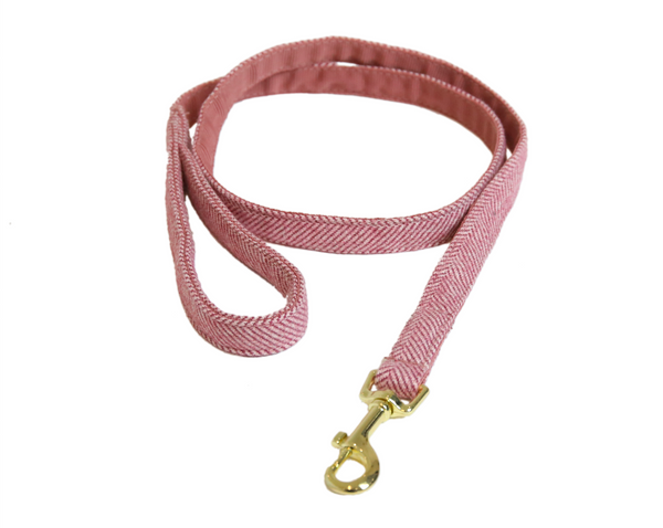 Dog Leash Wool Raspberry