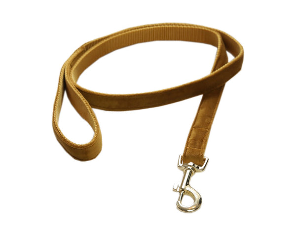 Dog Leash Velvet Mustard