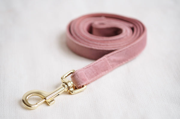 Dog Leash Velvet Old Rose