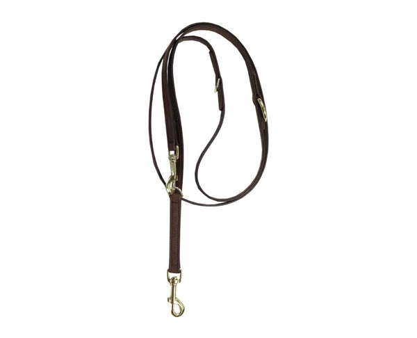 Dog Leash Velvet Leather Brown