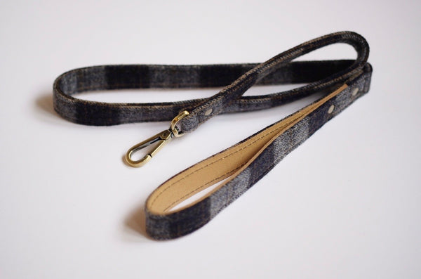 Tweed Dog Leash Navy