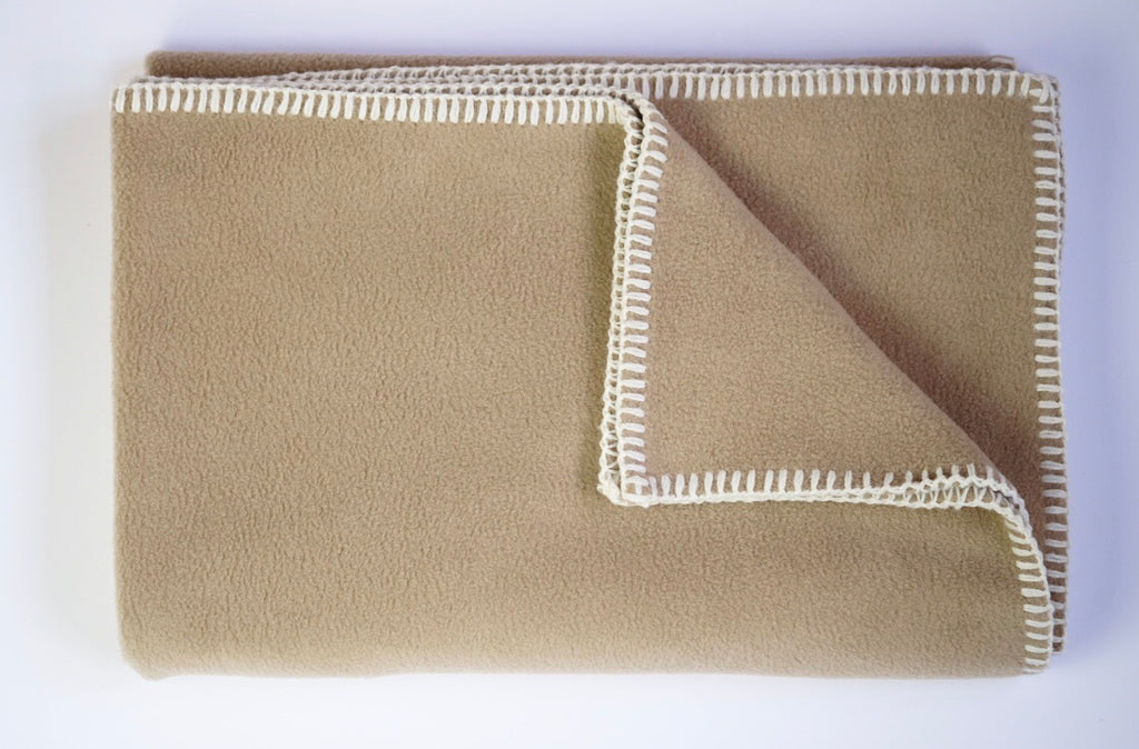 Dog Blanket Soft Fleece Beige