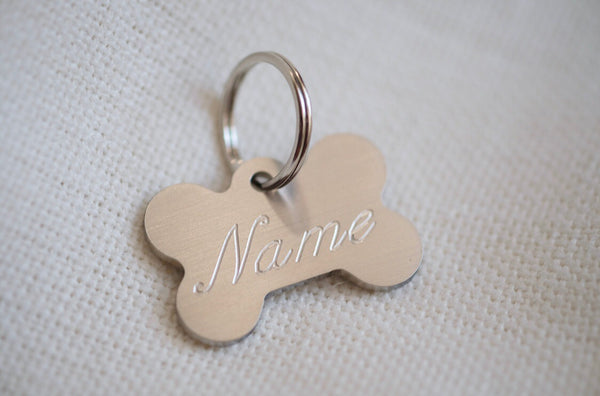 Bone Shaped Stainless Steel Dog Tag