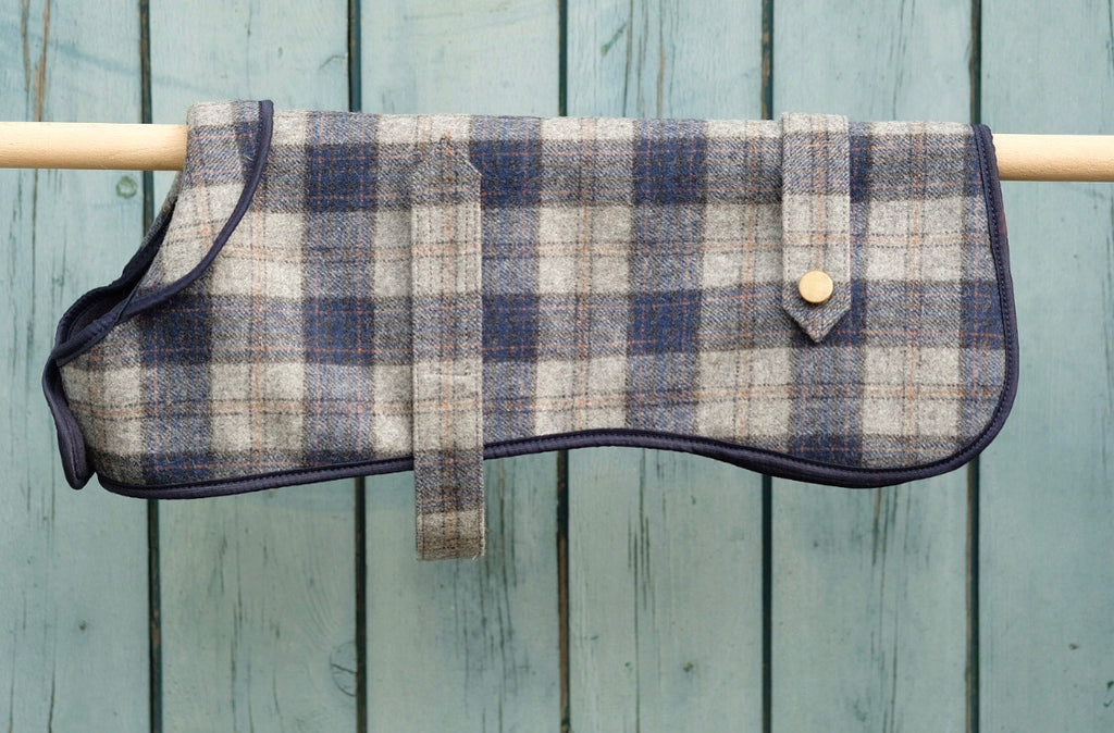 Tweed Dog Coat Navy