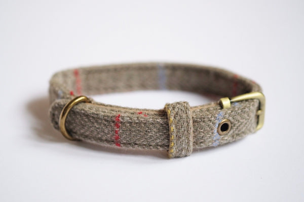 Tweed Dog Collar Sage