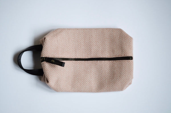 Tweed Wash Bag Rose