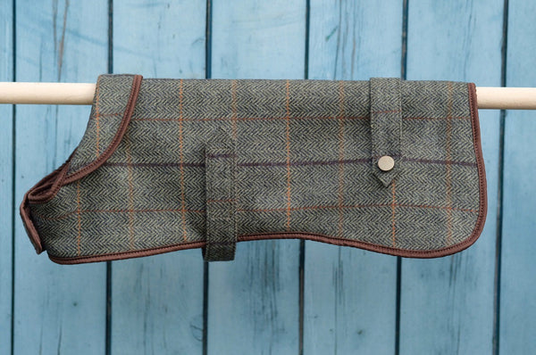Tweed Dog Coat Brown