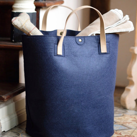 Felt Storage Basket Navy