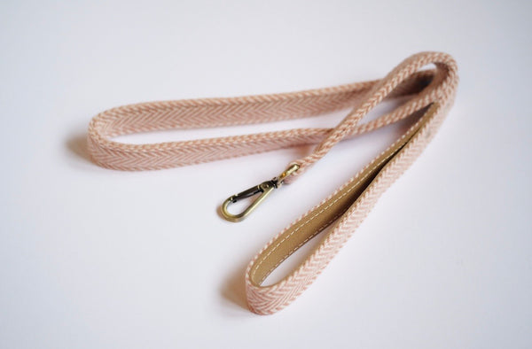 Tweed Dog Leash Rose