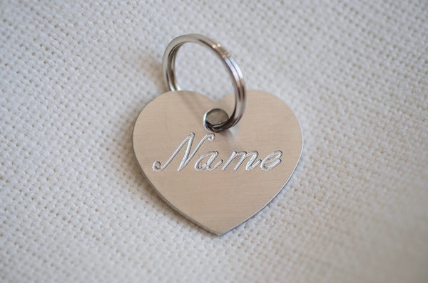 Heart Shaped Stainless Steel Dog Tag