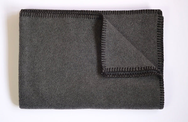 Dog Blanket Soft Fleece Dark Grey