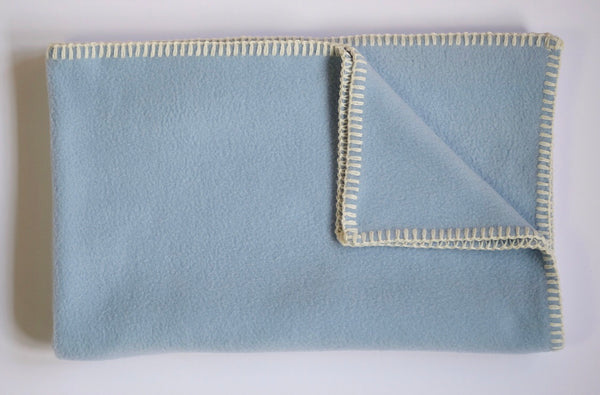 Dog Blanket Soft Fleece Light Blue